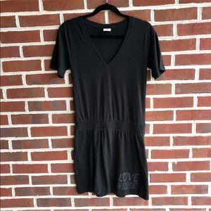 PINK Victoria's Secret causal black v-neck dress